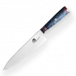 "Gyuto / Chef 8"" (200mm) Dellinger LADDER Blue Shadow Professional Damascus"