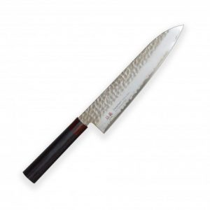 Gyuto (Chef's) 210mm-Suncraft Wood-Damascus-japonský kuchařský nůž-Tsuchime- VG10–33 vrstev